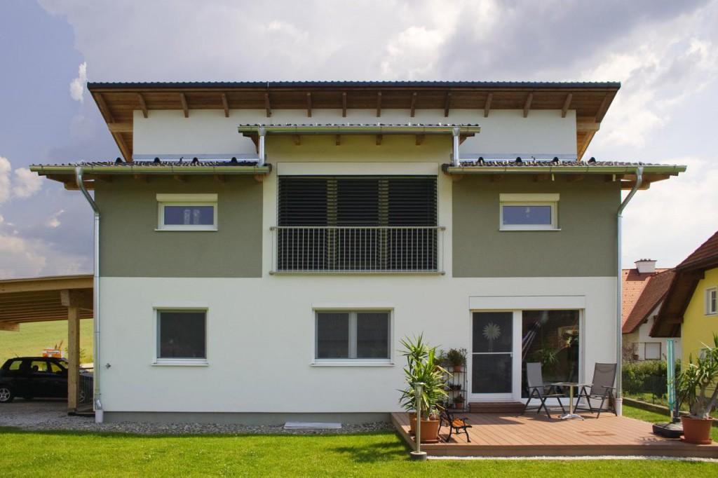 Pultdachhaus in wiener neudorf lieb fertighauslieb for Fertighaus pultdach